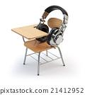 desk, headphone, headphones 21412952
