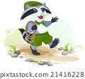 raccoon, scout, carries 21416228