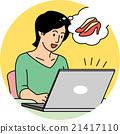 여성, 컴퓨터, 인터넷 쇼핑 21417110