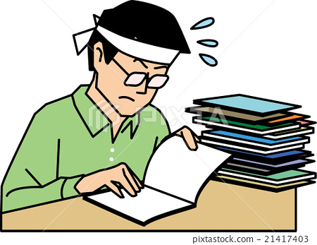 male man student preparing for an exam stock illustration