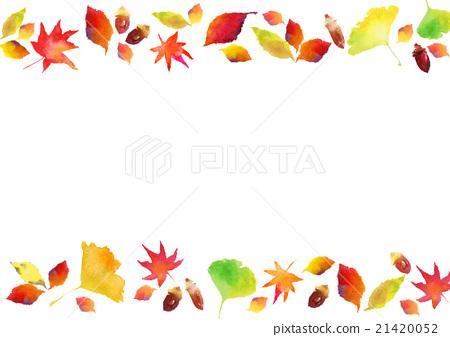 例證秋天色的葉子背景 21420052