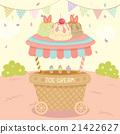 ice cream cart 21422627