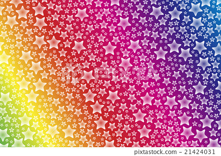 Background material Wallpaper, Rainbow color, Rainbow color, Colorful, Star pattern, Stardust, Stardust, Glitter, Milky Way, Starry Sky 21424031