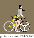 Cyclists and fixed gear bicycle 21424163