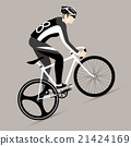Cyclists and fixed gear bicycle 21424169