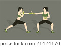 Young woman fighting body combat 21424170