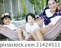 육아를하는 부모와 자식 21424511