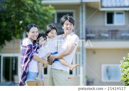 爸爸 媽媽 父母和小孩 21424527