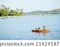 父母和小孩 親子 皮划艇 21424587