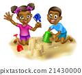 Children on the Beach 21430000