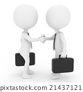 握手CG的商人的例证 21437121