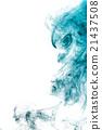 Smoke-shaped alien,black background 21437508
