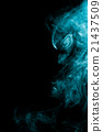 Smoke-shaped alien,black background 21437509