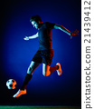 Soccer player Man isolated 21439412