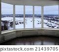 wide window of verandah with winter landscape 21439705