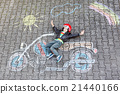 Little child in helmet with motorcycle picture 21440166