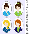 Cute illustrations of beautiful young girls  21441222