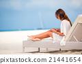 beach, lounger, messaging 21441654