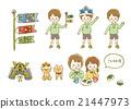 兒童節 柏市麻薯(包裹在橡樹葉子裡的年糕) 小孩 21447973