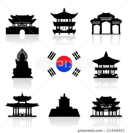 Korea Travel Icon Set. 21448401