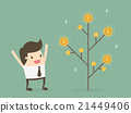 Money plant. Money growth and investment concept. 21449406