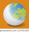 Volleyball vector illustration where world map was projected 21450160