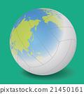 ภาพประกอบเวกเตอร์วอลเลย์บอลที่แผนที่โลกถูกฉาย 21450161