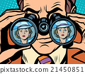 Love couple man woman binoculars 21450851