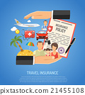 travel, insurance, vector 21455108