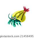 Hermit Crab. Vector Illustration 21456495