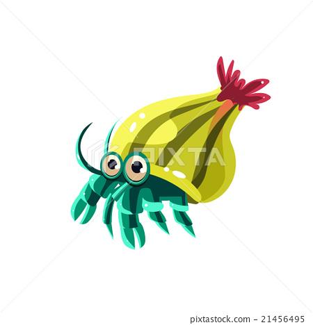 Hermit Crab. Vector Illustration 21456495