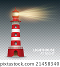 Realistic red lighthouse building isolated on 21458340