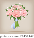 Wedding bouquet of pink roses.  21458442