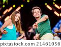 Teenagers at summer music festival having fun 21461056