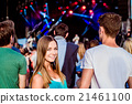 Teenagers at summer music festival having fun 21461100