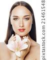 face, flower, female 21461548