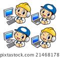 Repairman Character and Personal computer. 21468178