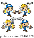 Repairman Character holding a with both hammer  21468229