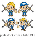 Car Mechanic Character is holding the cross wrench 21468393