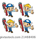 Plumber Character is holding the pipe wrench. 21468406