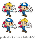 Engineer Character is holding a telephone. 21468422