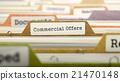 Commercial Offers Concept on Folder Register. 21470148