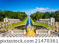 View of the Lower Gardens in Peterhof - Russia 21470361