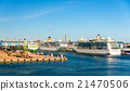 Cruise liners in Port of Helsinki - Finland 21470506