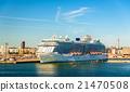 Cruise ship in Port of Helsinki - Finland 21470508