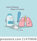 lung avoid inhaling other irritants 21470606