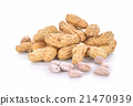 Boiled Peanuts on white background 21470939