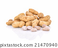 Boiled Peanuts on white background 21470940