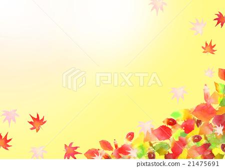 일러스트 가을 단풍 배경 21475691