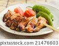 紅燒 沾糖色烤 雞肉料理 21476603